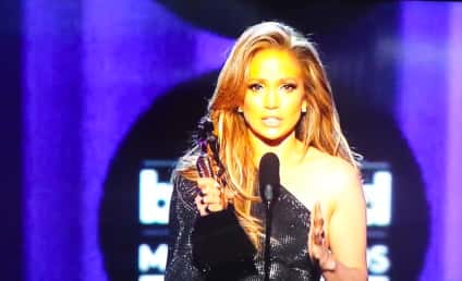 Jennifer Lopez Wins Icon Award, Breaks Down on Billboard Stage