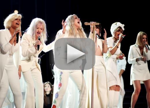 Kesha dominates the grammys with praying performance