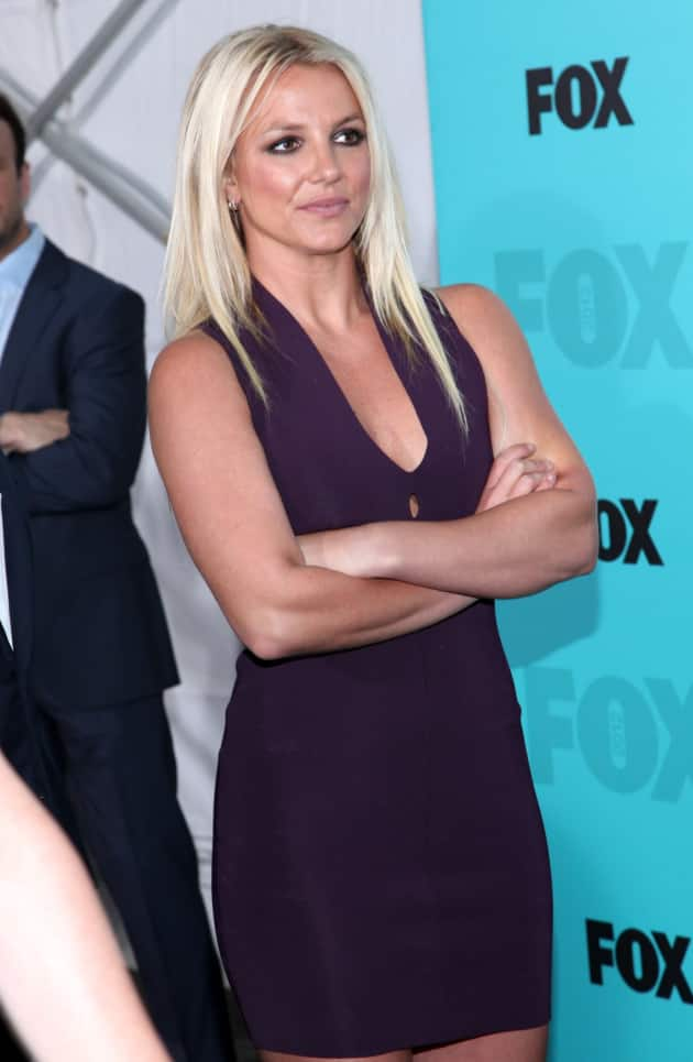 Britney Spears at X Factor Press Conference