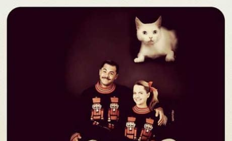 Mena Suvari Christmas Card