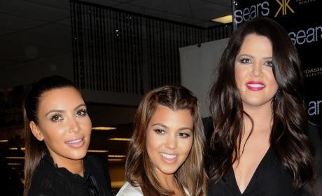 Kim, Khloe and Kourtney Kardashian: Kardashian Kollection Sears Yonkers