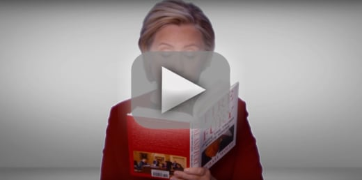 Hillary clinton trolls trump reads fire and fury at 2018 grammys