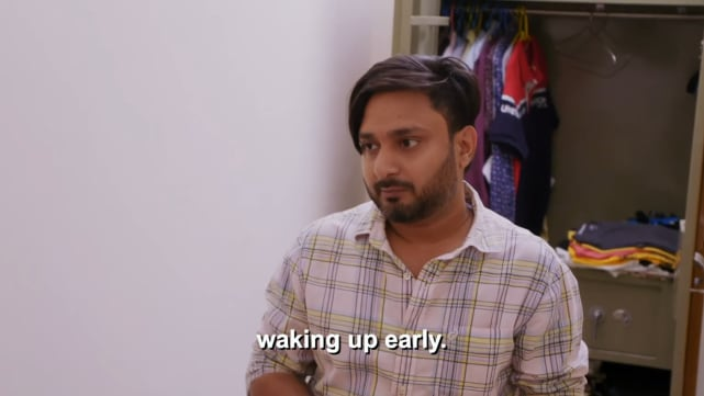 Sumit singh waking up early
