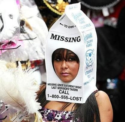 Snooki as a Missing Child