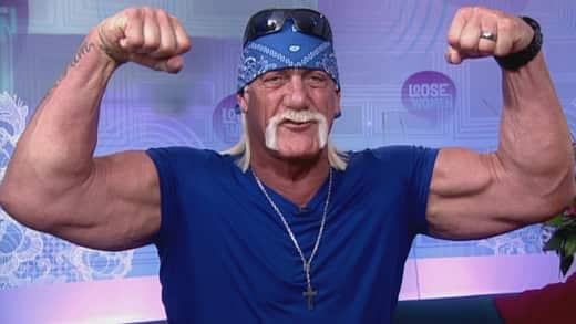 Hulk Hogan Flexes