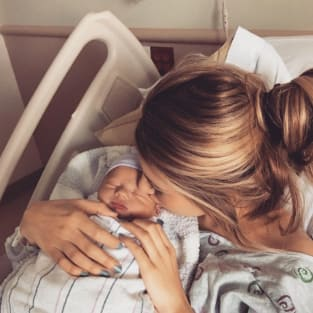 Briana Jungwirth and Baby