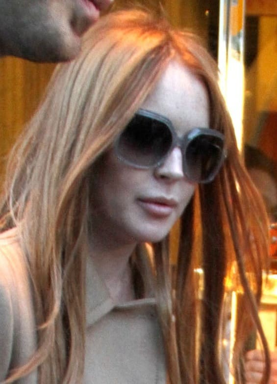 Lohan's Red Hair