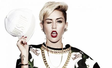 Miley Cyrus Winks