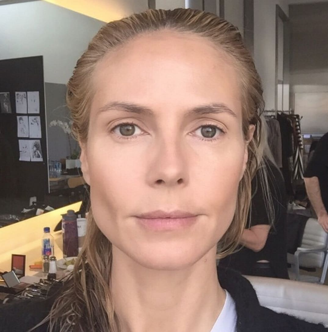 heidi klum shares before-and-after makeup photos: see the