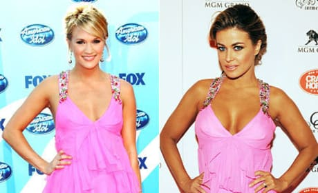 Who looks better in this outfit: Carrie Underwood or Carmen Electra?