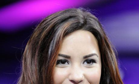 Demi Lovato with Dark Hair