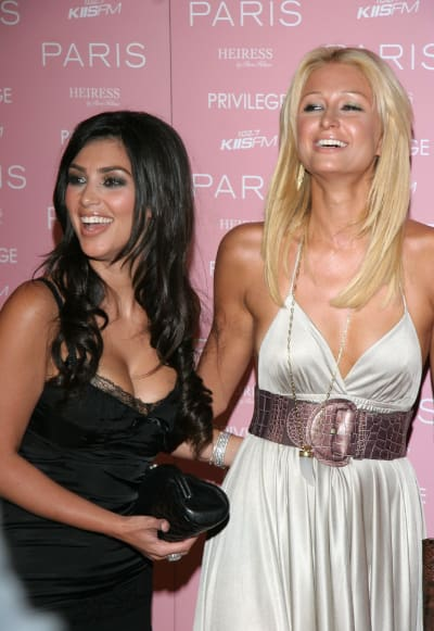 Kim Kardashian, Paris Hilton: Old School Pic