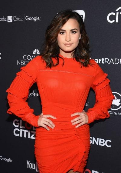 Demi Lovato Works the Red Carpet