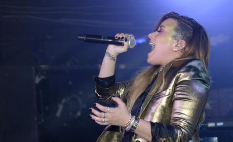 Demi Lovato in England