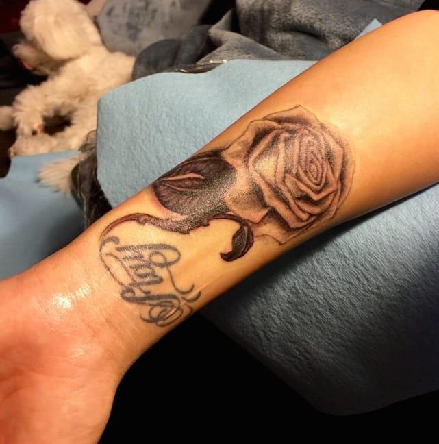 Demi Lovato Rose Tattoo