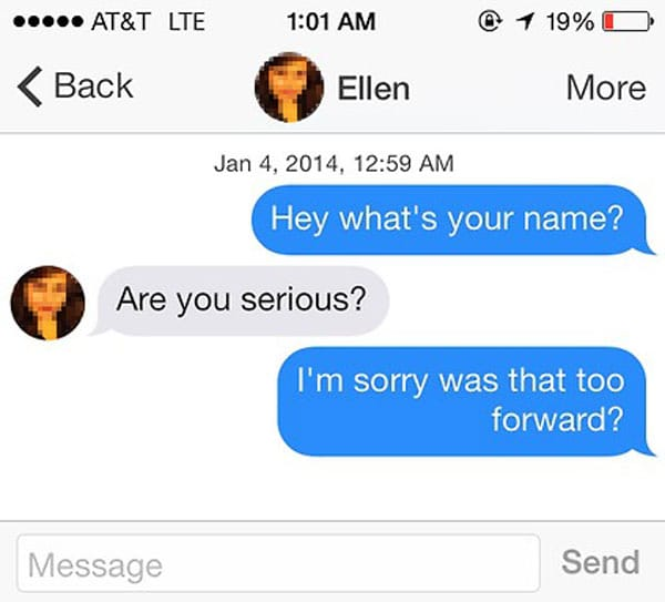 Cheesy tinder pick up lines