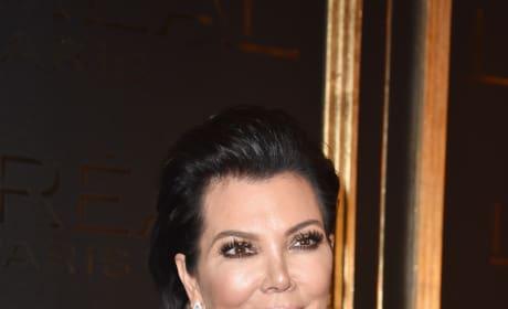 Kris Jenner Smirks