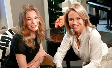 LeAnn Rimes and Katie Couric