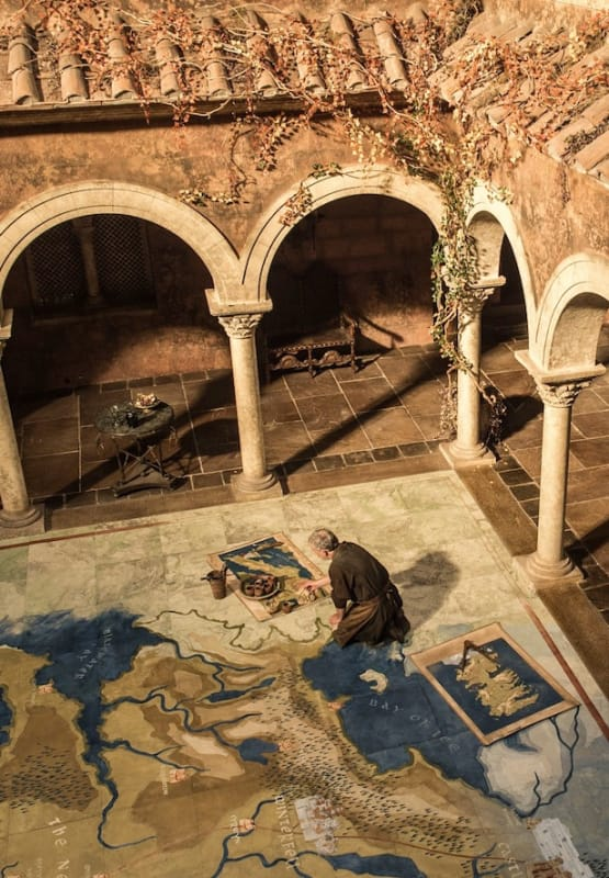 A Giant Map in King's Landing