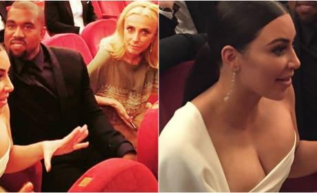 Kim Kardashian and Kanye West Get Ready To Watch La Traviata
