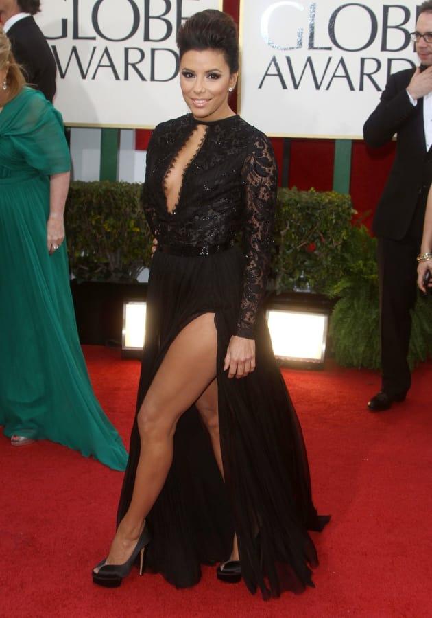 Eva Longoria at the Golden Globes