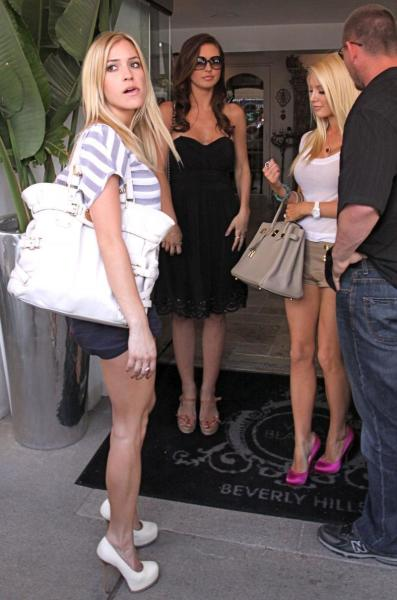 Audrina, Heidi and Kristin Filming