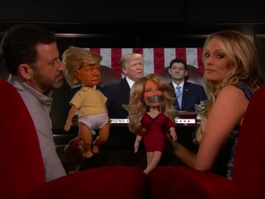 Stormy Daniels and Jimmy Kimmel, State of the Union