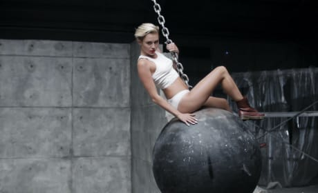 Miley Cyrus on a Wrecking Ball
