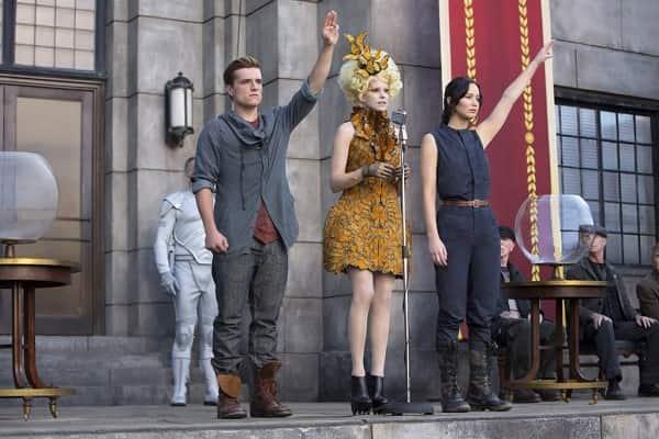Peeta and Katniss In Catching Fire Still