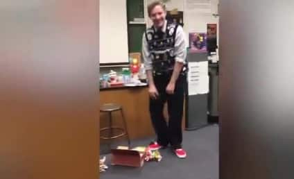 Students Surprise Teacher with Perfect Xmas Gift