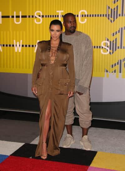 Kim Kardashian and Kanye West: 2015 MTV Video Music Awards