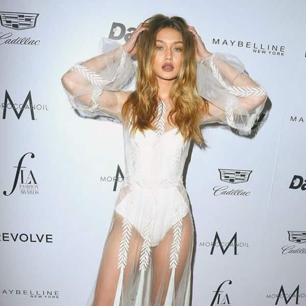 Gigi Hadid in white