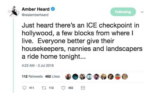 Amber Heard tweet