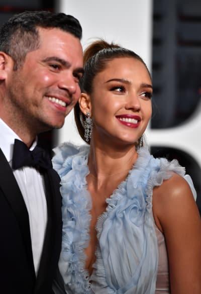 Cash and Jessica Alba