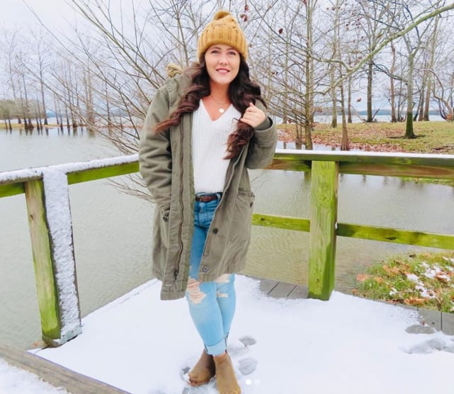 Jenelle in the snow