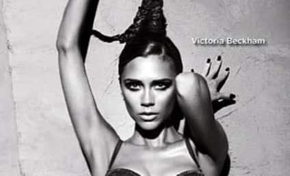 Victoria Beckham Strips Down for Armani