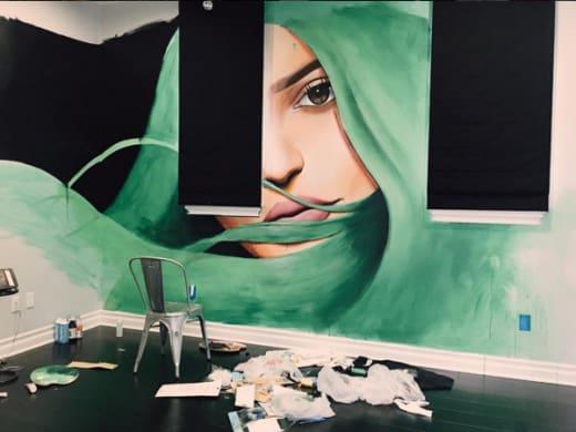 Kylie Jenner wall mural