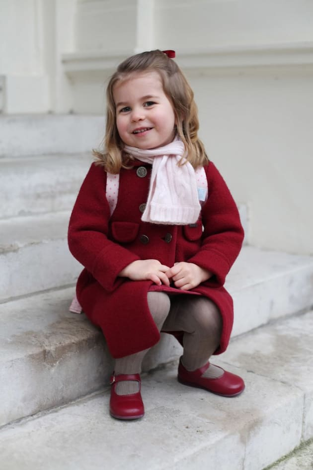 Princess Charlotte on First Day of School