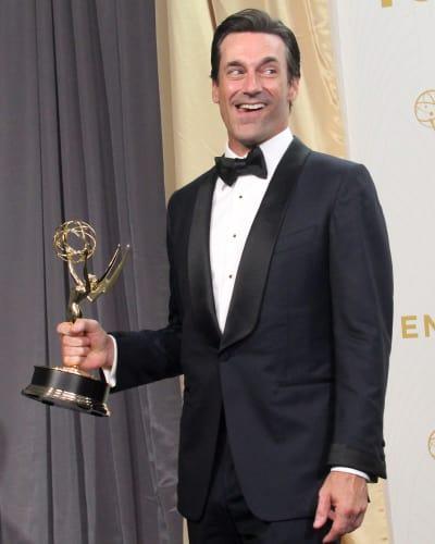 Jon Hamm at the 2015 Emmys
