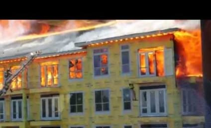 Firefighters Save Construction Worker From Burning Building With Seconds to Spare in Amazing Video