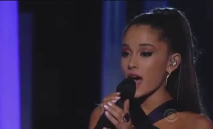 """Ariana Grande Grammy Awards Performance: """"Just a Little Bit of Your Heart"""" Ballad Brings House Down"""