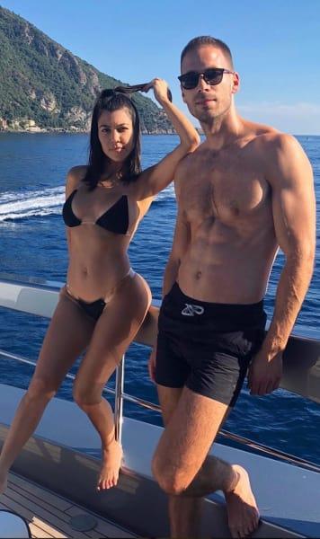 Hot Kourtney and BFF Simon Huck