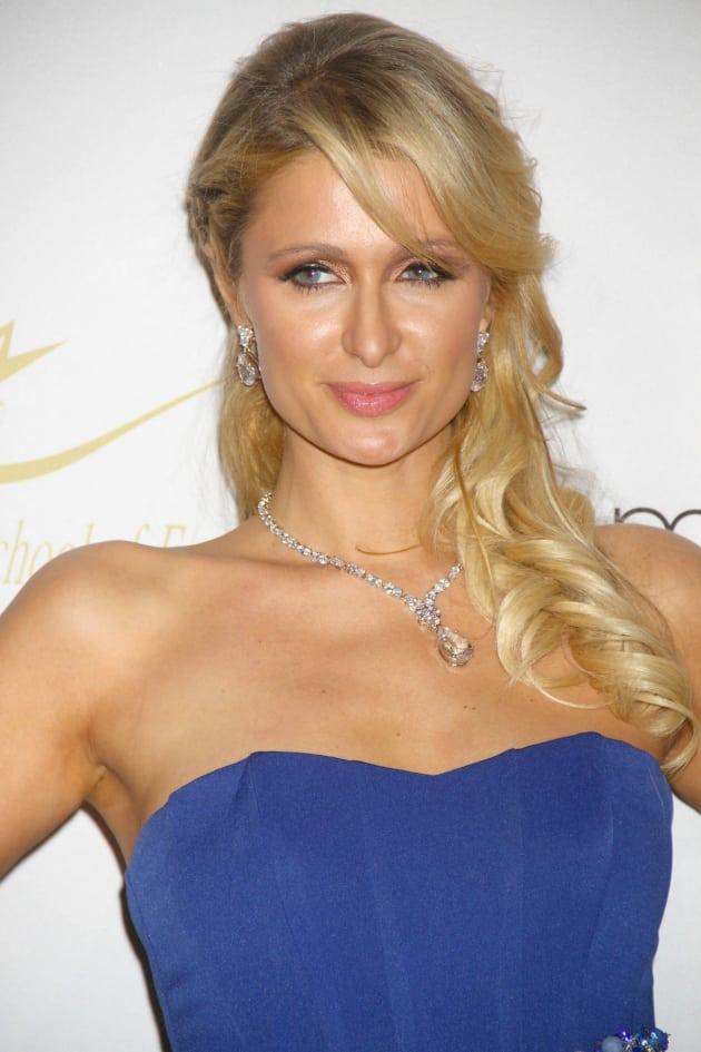 Paris Hilton in Blue