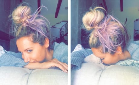 Ashley Tisdale Purple Hair Pic