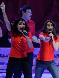 Naya Rivear Cory Monteith Lea Michele Glee Concert 2011