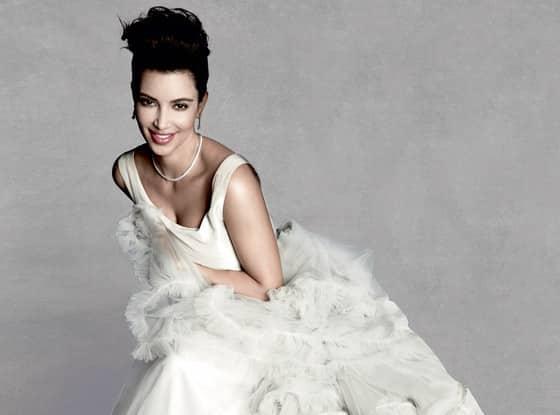 Kim Kardashian in a Wedding Dress