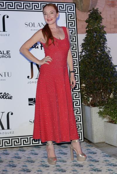 Lindsay Lohan at Madrid Fashion Week