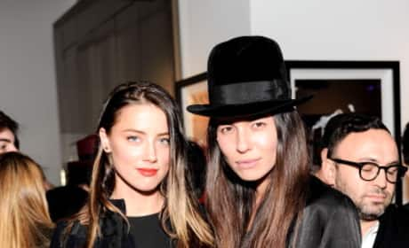 Amber Heard and Tasya Van Ree At Replica Exhibition