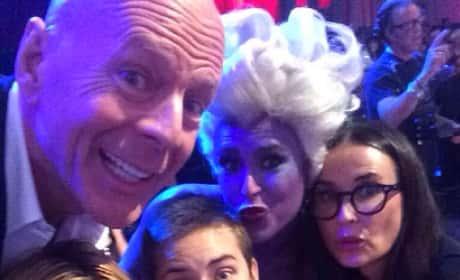 Rumer Willis Family Selfie