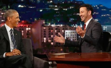 Barack Obama with Jimmy Kimmel